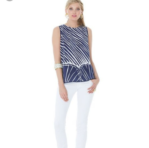 Lilly Pulitzer Tops - Lilly Pulitzer Iona Silk Shell Top